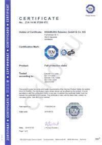 Сертификат продукции KRAIBURG Relastec GmbH & Co. KG